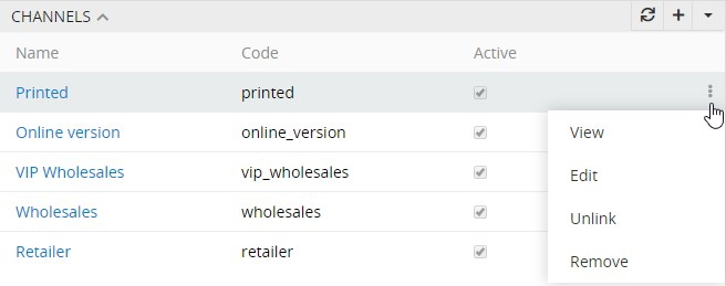 Related entity single actions